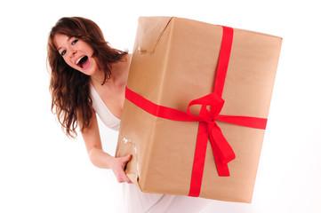 Lady mit Paket