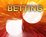 Gambling dice betting background poster