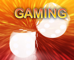 Gambling dice gambling background