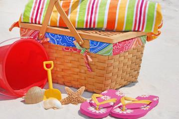 Beach picnic supplies