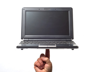 Fingertip laptop