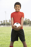 Young Boy In Football Team