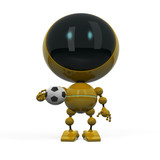 Robot with football ball