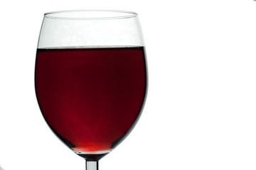 Weinglas auf weiß