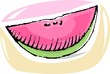 Illustration of freshness fruit of water  melon