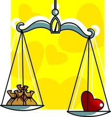 Illustration of tulas with small pouch and love balance