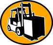 Forklift truck and operator