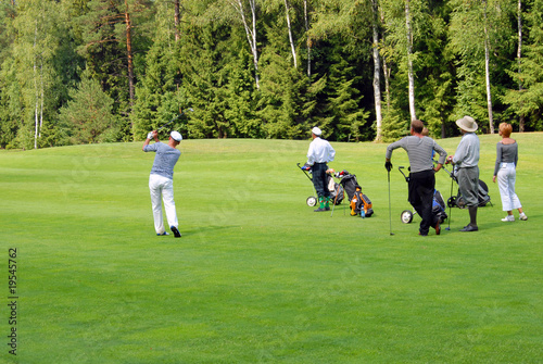 Group of Golfers at Moscow's Country Club (Russia)