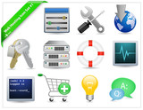 Web Hosting Icon Set poster