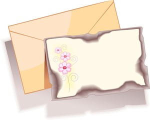 Illustration of envelope card with design