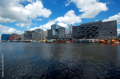 Modern buildings in Amsterdam