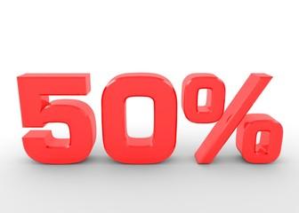 Fünfzig Prozent