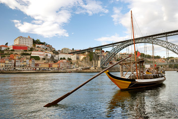 rabelo boats near Bridge (Porto)