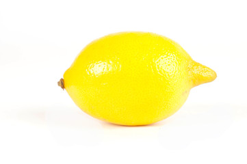 Lemon on a white bakcground