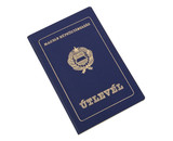 Old Hungarian Passport poster