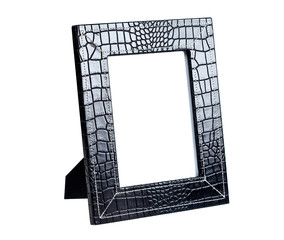 picture frame for a photo from a black leather