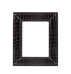 frame for a photo from a black leather