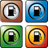 gas icon colored web buttons poster