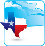 texas state cloud background poster