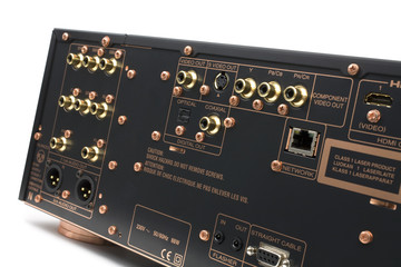 Hi-Tech AV receiver's connectors