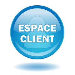 """Bouton web rond """"ESPACE CLIENT"""" (compte profil site web ligne)"""