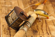 Vintage fishing rod and reel