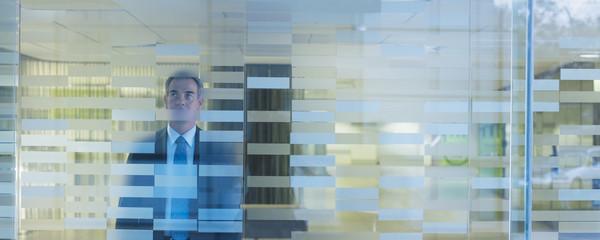 Businessman standing in modern office