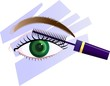 Illustration of eyeliner with eye