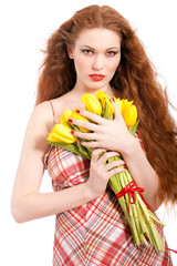 Portrait of redhaired woman