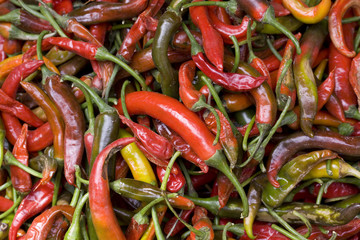red green chillies