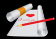 Love letter, written on roll, vector additional