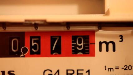 Gas meter in motion