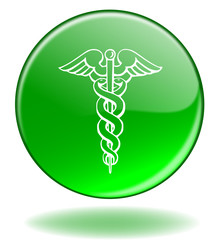 "Bouton Web ""Santé"" (Médecine Hôpital Urgences Pharmacie Caducée)"