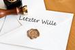 Umschlag Letzter Wille