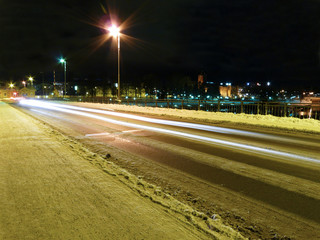 Line of car light