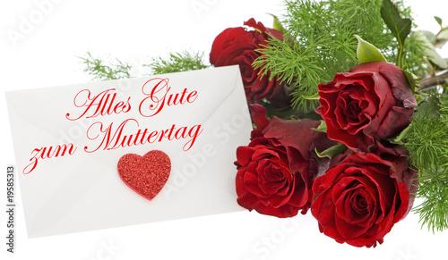 rote Rosen zum Muttertag