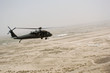 Helicopter flying over Iraqi desert