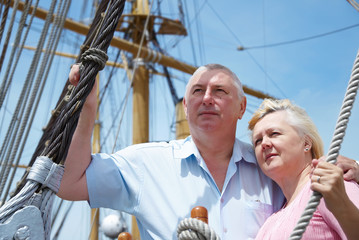 couple on the sailboat