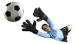 Soccer Goalie Jumping For Ball