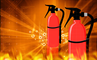 Illustration of a portable fire extinguisher