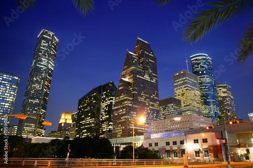 Houston downtown city urban bulidings view