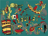 mexico doodles poster