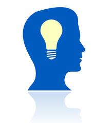man having a bright idea icon