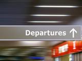 Tourist info signage departures poster