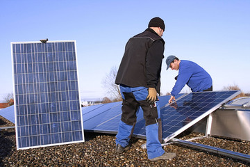 Assembling from solar electricity