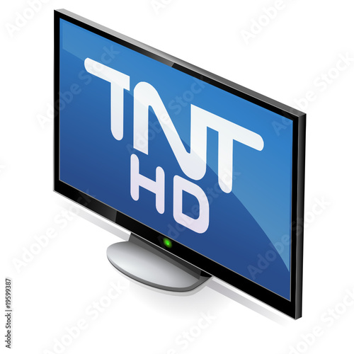 t l vision cran plat tnt hd reflet from onidji royalty free vector 19599387 on. Black Bedroom Furniture Sets. Home Design Ideas