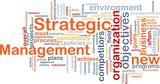 Strategic management word cloud poster