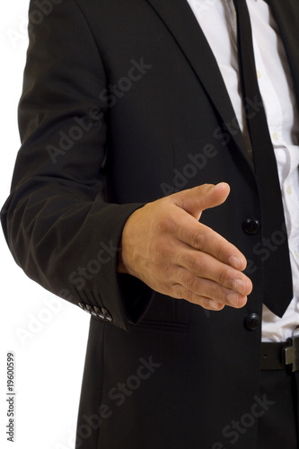 Businessman handshake close up