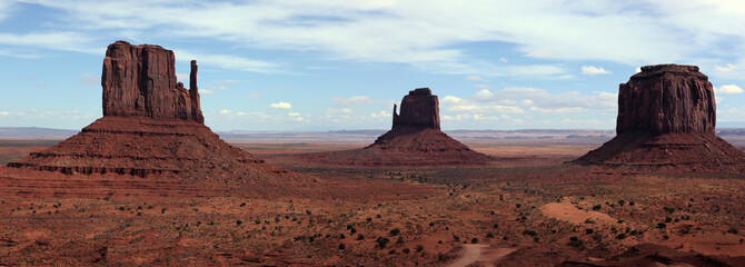 panorama de monument valley