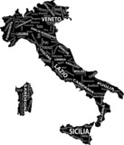 Fototapety mappa italia